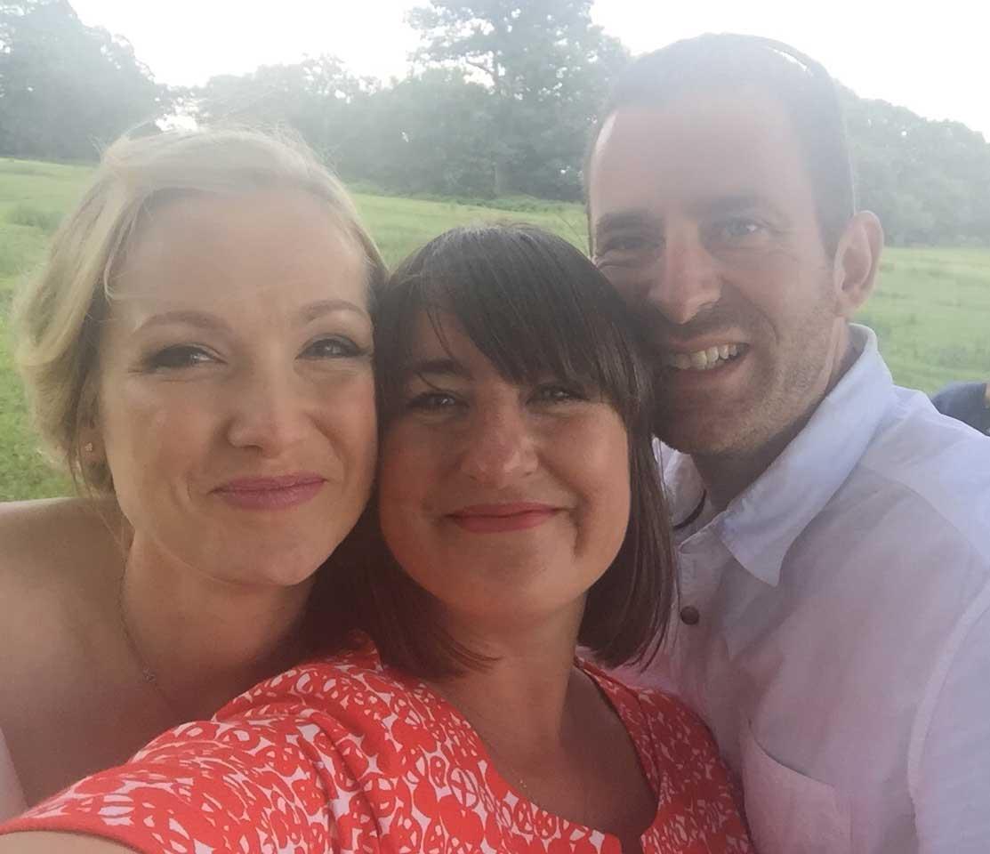 Zena Birch and wedding couple